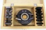 Szerszámok - Profilmarók, patentfejek, rádiuszmarók, félkör-negyedkör-holker-stab-45 fokos marók - 113-64: Forgácstörős patentfej készlet (kézi előtoláshoz)