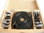 Szerszámok - Profilmarók, patentfejek, rádiuszmarók, félkör-negyedkör-holker-stab-45 fokos marók - 113-63: Patentfej készlet (gépi előtoláshoz)