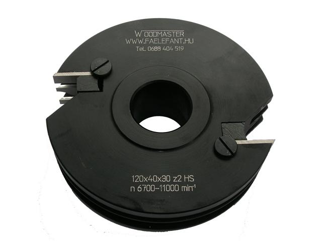 Szerszámok - Kontraprofil - keretösszeépítő marók - Váltólapkás bútorajtó keretösszeépítő kontraprofil